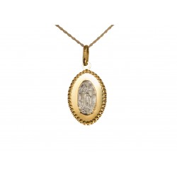 Medalla - Virgen de Guadalupe - Oro 14K - Plata 0.925