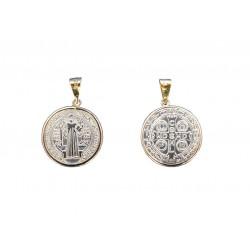 Medalla - San Benito - Oro 14K - Plata 0.925