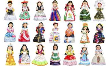 Muñecas Tipicas, Tradicionales de los Estados de México