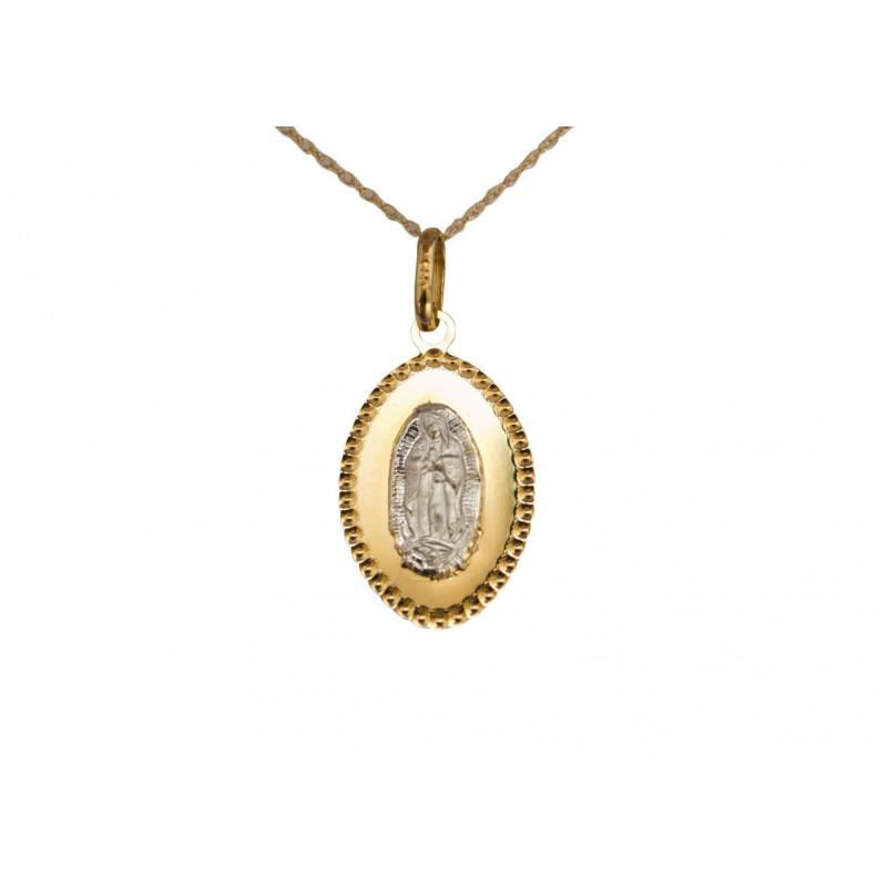 1b4d281dd89 Medalla - Virgen de Guadalupe - Oro 14K - Plata 0.925