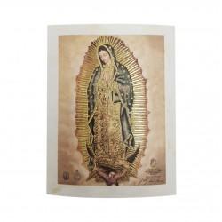 Cromo de la Virgen de Guadalupe